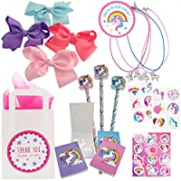 The Curious Caterpillar Unicorn Party Bag - Ready to fill paper party bag with Unicorn party bag fillers (6 Deluxe B)