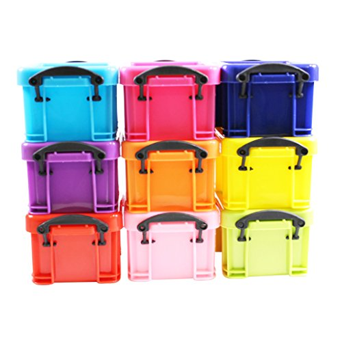 mini-colourful-stackable-plastic-storage-clip-lock-box-containers-set-of-9-by-kurtzy-tm
