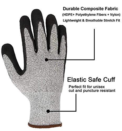 CCBETTER Schnittfest Handschuhe Level 5 Schutz Küche ...