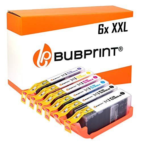 6 Bubprint Druckerpatronen kompatibel für Canon PGI-580 CLI-581 Pixma TS8150 TS8250 TS8151 TS8152 TS8240 TS8241 TS8242 TS8251 TS8252 TS9150 TS9155 Multipack -