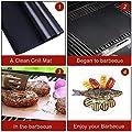 ISUDA Grillmatte(5er Set),3er Backmatte BBQ Matten und 2er Grillen Mesh Matte,Wiederverwendbar 100% Antihaft Grillmatten,40x33cm,für Backen,Gasgrill, Holzkohlegrill & Elektrogrill