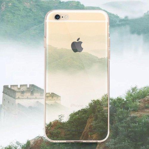 iPhone 7 Case (4.7) , iPhone 7 Custodia,Ultra Slim Thin Crystal TPU Paesaggio Morbido Bumper Case + Stylus Screen Touch Pen –cima model 6