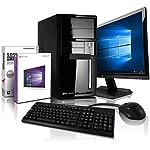 Komplett Flüster-PC Paket Intel Quad-Core Office/Multimedia shinobee Computer mit 3 Jahren Garantie! inkl. Windows10 Professional - INTEL Quad Core 4x2.41 GHz, 8GB RAM, 500GB HDD, Intel HD Graphics, USB 3.0, HDMI, VGA, Office, 22-Zoll LED TFT Monitor, Tastatur+Maus #5001