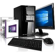 Komplett Flüster-PC Paket AMD Quad-Core Office/Multimedia shinobee Computer mit 3 Jahren Garantie! inkl. Windows10 Professional - AMD Quad Core 4x1.50 GHz, 4GB RAM, 320GB HDD, AMD Radeon HD 8330, USB 3.0, HDMI, VGA, Office, 22-Zoll LED TFT Monitor, Tastatur+Maus #4981