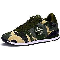 BUSL Pareja unisex zapatos zapatos deportivos al aire libre zapatos de senderismo casuales zapatos para correr ejército verde . army green . 42