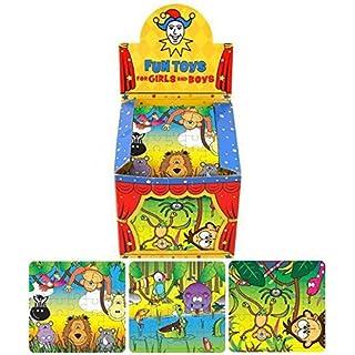 ALANNAHS ACCESSORIES 10 Jungle Puzzles 13X12cm Party Bag Toy Loot Fillers
