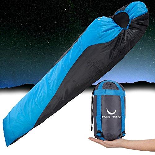 PURE HANG Schlafsack Ultra-Leicht und Dünn Kleines Packmaß für Herren Damen Erwachsene Camping Sommer Outdoor Reise Angeln Wandern Trekking Backpacking Tropen Zelten Festival - Zum Verbinden für 2