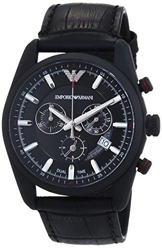 Emporio Armani Herren-Armbanduhr XL Chronograph Quarz Leder AR6035