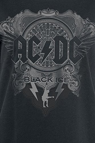 AC/DC Black Ice Girl-Shirt schwarz Schwarz