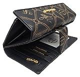 ★ Damen XXL Geldbörse Elegant Luxus Portmonee Frauen Geldbeutel Brieftasche Lange Geldbörse Women Wallet Viele Kartenfächer in 5 Farben ★ (Schwarz)
