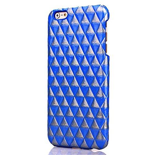 Doppel-Farben-Fall harte rückseitige Abdeckung Platz Diamant-Gitter-Gitter-Muster harter Abdeckungs-Fall für Apple IPhone 6S 4,7 Zoll ( Color : Rose Red , Size : Iphone64.7 ) Blue