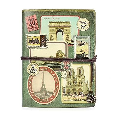 Leather Writing Journal Notebook, MALEDEN Vintage Traveler Notebook Sketchbook Classic