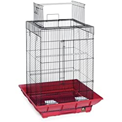 Prevue Hendryx Sp851r/B Clean Life Play Top Cage, Rouge et Noir