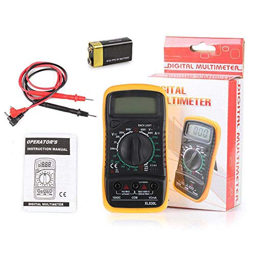 TB® Digital Multimeter, XL830L Multi tester AC/DC Ohmmeter Voltage Tester Detector Voltmeter Portable Tester Meter with Backlight Over load protection