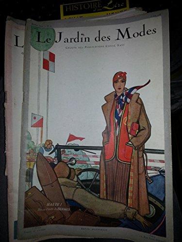 Revue Le Jardin des Modes n° 107 15 juin 1928 jersey fichus de lit Vu aux courses Pull over de tennis par Vogel Lucien Brunhoff Michel de