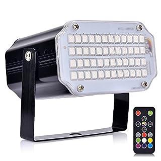 AUSHEN 48 LED High Gloss Remote Control Scene Lighting Night Light Party Lights 2018