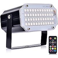 Strobe Lights Stage with Remote Sound Activated Strobe Lights for Parties 48 RGB LED Stage Lighting Mini Stage Lights