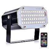 Luces de escenario dj light con control remoto luces para fiestas uces estroboscópicas activadas por sonido para fiestas 48 RGB LED dj luces estroboscopicas luces dicoteca
