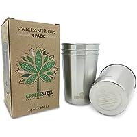 Bicchiere Acciaio Inossidabile 10 once/ 300ml (Confezione da 4) Tumbler