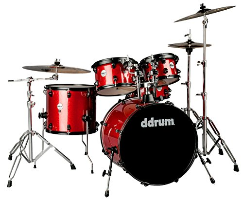 Ddrum J2P 522 RSP Stück Drum Set, Red Sparkle
