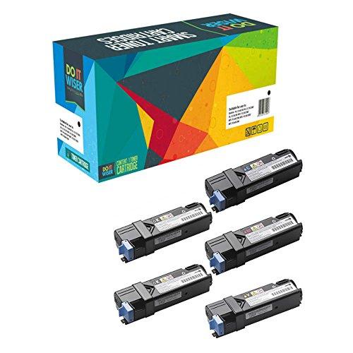 5 Do it Wiser ® Toner Kompatibel Dell 2150CN 2150 2150CDN 2155CN 2155 2155CDN | 593-11006 593-11007 593-10999 593-11003 - Schwarz 3.000 Farben 2.500 Seiten