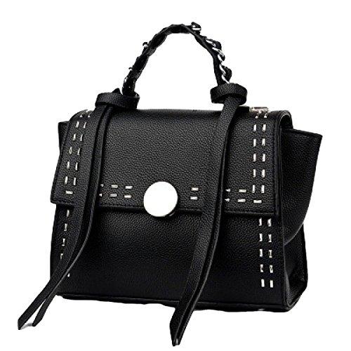Liu Nagelhand Mode Handtasche Schultertasche Diagonal Paket Black