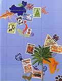 Exacompta 25634E - Briefmarken Einsteckalbum Globe Trotter, 16 Seiten, 16.5 x 22.5 cm