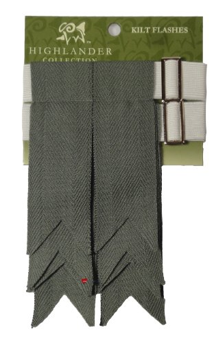 Pure Wool Kilt Flashes in Weathered Blue