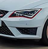 Devil Eye® Scheinwerfer Folie von Finest-Folia Stripe für Seat Leon 3 III SC Cupra ST RS FR Exeo ST Toledo IV KG Mii Altea Ibiza Cupra ST SC 6J RS Folie