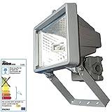 Relco Halogenstrahler 150 Watt weiss/hellgrau inkl Lampe