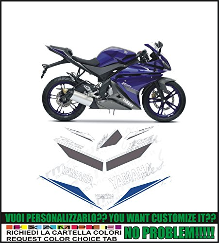Kit adesivi decal stickers YAMAHA R125 YZF 2013 BLUE (ability to customize the colors)