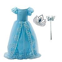 """Costume principessa ragazza. Materiale principale: cotoneTabella di formato: 4-5 anni(etichetta 110): Busto 60cm / 23.62"""" Lunghezza (contiene il velo) 160cm / 62.99"""" 5-6 anni(etichetta 120): Busto 64cm / 25.20"""" Lunghezza (contiene il velo) 16..."""