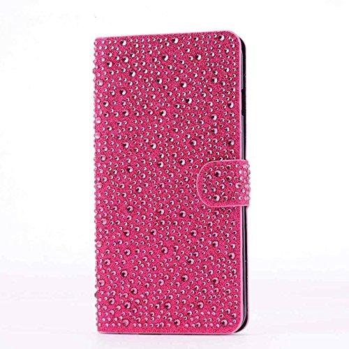 iPhone 6Plus/6S Plus Schutzhülle, by jabit Regentropfen Diamant Fällen-Kristall Bling Strass Wallet PU Leder Schutzhülle Hard Case Cover SCHUTZHÜLLE 5Farben, Rose