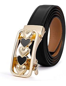 Cinturones De Moda Casual/Hebilla De Cinturón Automático Versátil Simple-Negro 95cm(37inch)