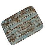Tomatoa Retro-Nostalgie Gestreiftes blaues Holzbrett Rutschfeste Teppich Matte Sofa Matte Schmutzfangmatte Fußmatte Haustür außen und innen Schmutzabstreifer Tür-Matte (A)