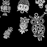Sharplace 12pcs Antike Silberne Eulenform Anhänger Für Schmuckherstellung Basteln Schmuckanhänger
