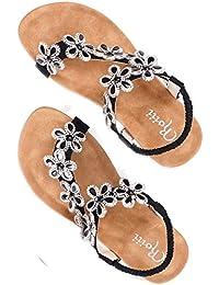 811c13155 Roiii Womens Ladies Diamante Jelly Sandals Summer Beach FLIP Flops Toe Post  Shoes Size