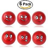 BESTOYARD Bola de la tensión Apriete Bolas Fidget juguete para los favores de partido ejercicios de manos y fortalecimiento - 6 Pack