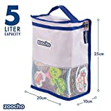Zoocho Kids Bath Toy Storage Organiser Bag (Blue) Tidy all your baby bath toys with this unique premium multi-functional holder. For boys, girls, all ages, shower,bathroom,toiletries and shampoos.