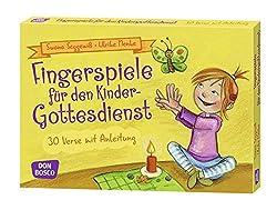 Fingerspiele für den Kindergottesdienst: 30 Verse mit Anleitung