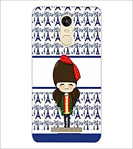 PrintDhaba Cute Doll D-5877 Back Case Cover for XIAOMI REDMI NOTE 3 (Multi-Coloured)