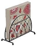 Árbol de Navidad corazón renos Rojo Beige 20x 3capas servilletas de papel Cartucho Negro Entramado servilletero Set