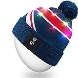 Mydeal Elegante Unisex Hombres Mujeres LED Encender Gorro Sombrero Gorra de Punto para Interiores y Exteriores, Esquí, Caminar, Ocio, Vacaciones, Celebración, Fiestas, Cumpleaños