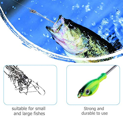 YouN 5 Arms Rig Fishing Lures 3D Eyes Alabama Umbrella Snap Fishing Tackle (2) -
