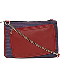 Scoop Street 22635NAVY-DEEP-RED-PRINT Sling Bag For Women/Girls