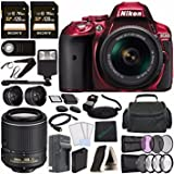 Best Nikon Batteries For Flashes - Nikon D5300 DSLR Camera with 18-55mm Lens (Red) Review