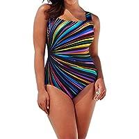 Bikini Mujer 2018 Push Up Rayas Radiación Colorida Bañador Deportivo con Relleno Naturazy Impreso Viento U