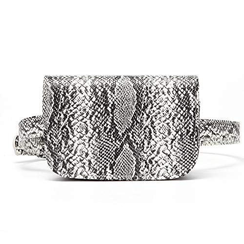 Unbekannt Ladies Pockets Belts Waist Messenger Bag Python Skin Pattern Ladies Casual Pockets Outdoor Trend wild Fashion Pockets Python Print Belt