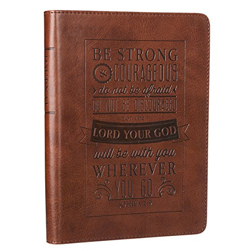 Be Strong and Courageous Two Tone LuxLeather Bible Cover Christian Art Gifts
