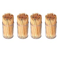 Invero® 600 x Pack of Party Wooden Cocktail Sticks Toothpicks Tooth Picks for Fruit Che...